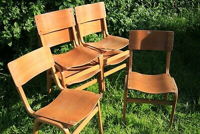 10 Vintage Plywood Chairs by Tecta