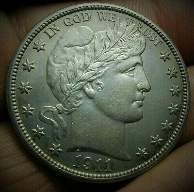1911 Barber Silver Half Dollar in a really nice High Grade Condition  Lot #C457