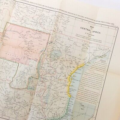 British Empire Maps 1909 Hertslet Map Of Africa By Treaty 2 Volumes Ww1 Manual