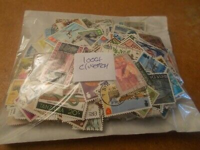 1000+ British Commonwealth stamps - all off paper - only £4 start!             i