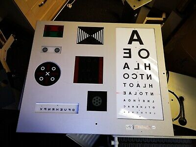 Eye Test sight test Chart Box, Wall Mountable with Remote Control REDUCED!!!