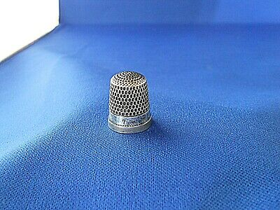 Antique Sterling Silver Thimble Size 7 Thomas Brogan NY, NY Plain Out of Round