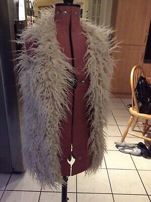 Beige shaggy gilet waistcoat age 11 years from Next