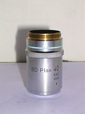 Nikon Bd Plan 40X Brightfield Darkfield Objective Lens