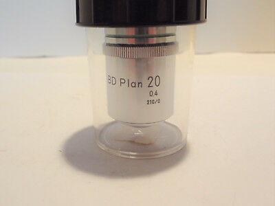 Nikon Bd Plan 20X **New-Nos** Brightfield Darkfield Objective Lens
