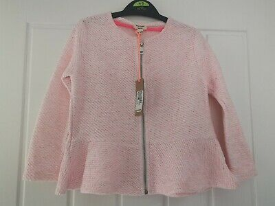 Girls Pink & Gold Sparkle Jacket Age 3-4 Yrs River Island Bnwt