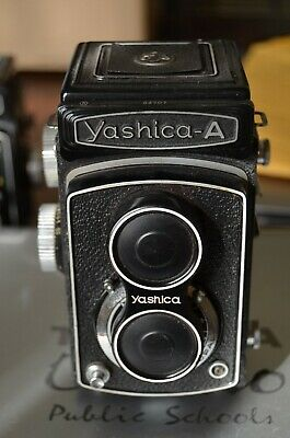 Yashica-A 120 Film Camera With Yashica 80mm f 3.5 Lens with Lens Cap