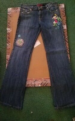 New Ladies Betty Boop Embroidered Denim Jeans