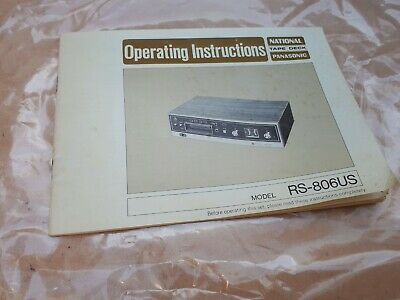 National Panasonic Tape Deck Operating Instructions - Free 1St Class Post