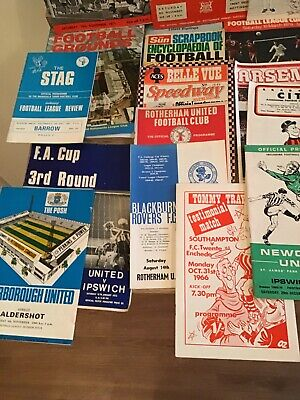 1960s And 70s Assorted Football Programmes Iconic Games And Teams