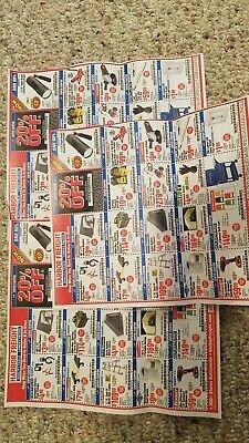 Harbor Freight 20% Off Super coupon Home Depot Lowe's Exp 7/10/20! 3 SHEETS!