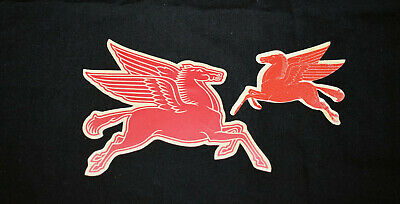 22. Mobilgas Oil Flying Pegasus Decals / Unused, Gummed / 1930'S - Red Horse