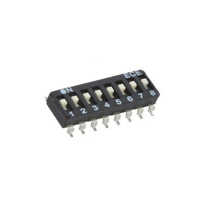 ESD108LTZ Switch: DIP-SWITCH Poles number: 8 OFF-ON 0.025A/24VDC Pos: 2 ECE