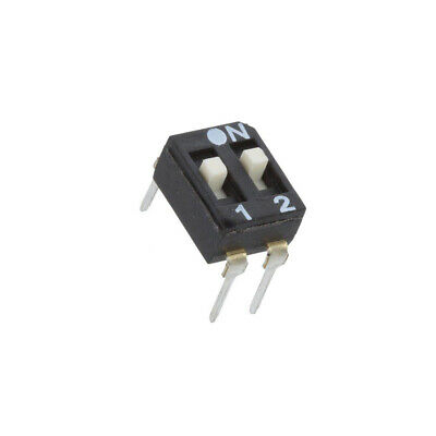2X EAM102EZ Switch: DIP-SWITCH Poles number: 2 OFF-ON 0.025A/24VDC Pos: 2 ECE