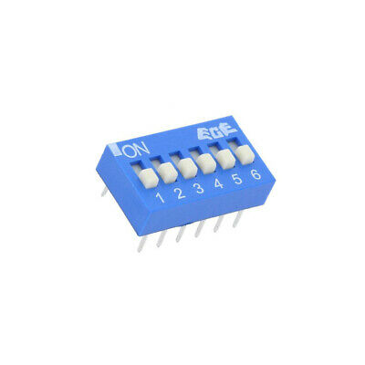 EDS106SZ Switch: DIP-SWITCH Poles number: 6 OFF-ON 0.025A/24VDC Pos: 2 ECE