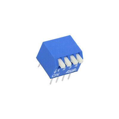EPS104AZ Switch: DIP-SWITCH Poles number: 4 OFF-ON 0.025A/24VDC Pos: 2 ECE