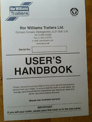 Ifor Williams Trailer Handbook & Instruc Reg Service Manual and wiring diagrams