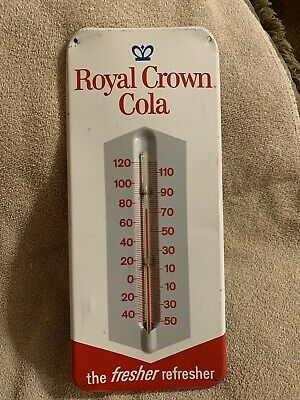 Royal Crown Cola Advertising Thermometer Sign