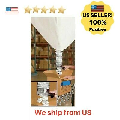 Industrial Peanut Dispenser with 20 Cubic ft Canvas Bag and Scissors Used Good