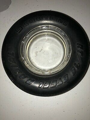 Seiberling Rubber Tire Advertising Ashtray