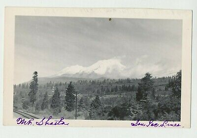 1940s RPPC Real Photo Postcard Mt. Shasta Siskiyou CA from Southern Pacific Rail