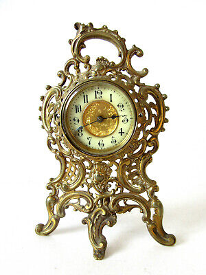 Neo Rococo 19th Century Antique German Mantle Clock With Simple Movement