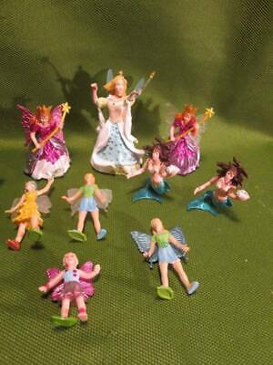 Mini Fairy and Mermaid Figures for Cake Decorating Lot 9 Pc