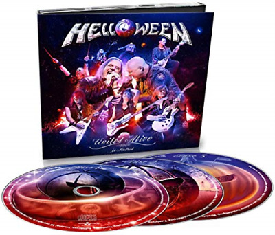 united alive 3 cd set HELLOWEEN brand new sealed live reunion