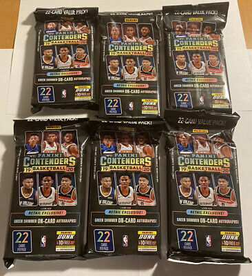 6 Packs 2019-20 Panini Contenders Basketball Cards 22-card Value Packs Zion?