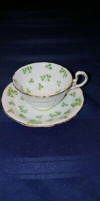 Aynsley TeaCup and Saucer - Shamrock Pattern