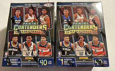 2 Sealed Blaster Boxes Of Basketball Panini Contenders 2019-2020 Zion?