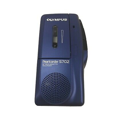 Olympus Pearlcorder S702 Handheld Cassette Voice Recorder Microcassette Portable