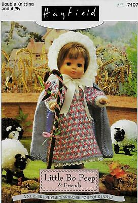 Hayfield Little Bo Peep & Friends Knitting Booklet for Doll Clothes