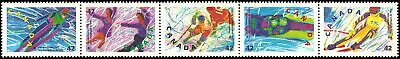 Canada #1403a MNH Strip of 5