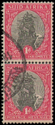 South Africa #48 Used vertical pair