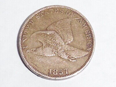 1857 United States Flying Eagle Penny. Very Nice Condition