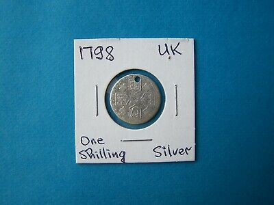Great Britain Coins 1798 Year One Shilling Nice Silver Coin.