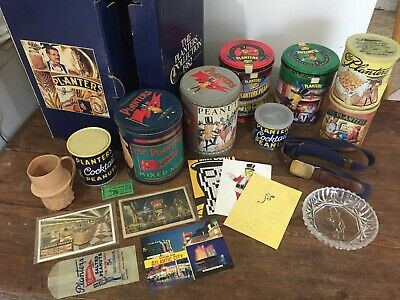VINTAGE-MR PEANUT PLANTERS PEANUTS MIXED LOT 3 Belt, Dish, Postcards