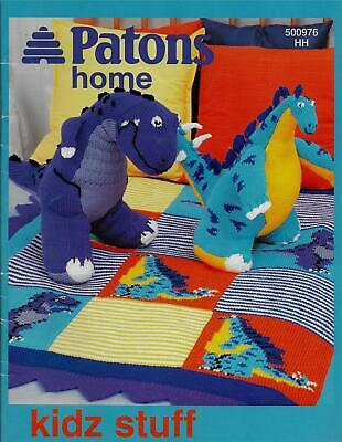 Patons Kidz Stuff Knitting Book Toys Blankets Dinosaurs,Airplane,Sheep,Butterfly
