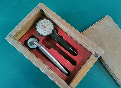 Vintage Micro Master Dial Indicator in Wooden Box