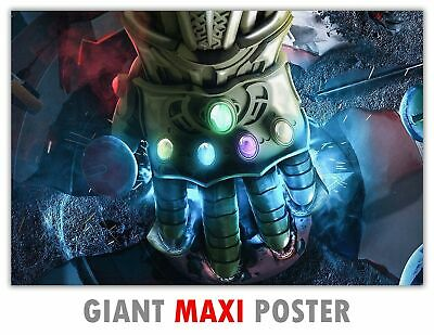 Powerful Hand Of Thanos Infinity Gauntlet Poster Wall Art Print Hanging