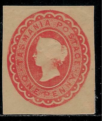 Australia TASMANIA 1870 - 1891 Over 125 Years Old Rarely Seen Cut Square Stamp