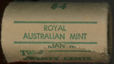 Roll of 20 - Australia 1976 Uncirculated 20 Cent $4 Face Value Coin Roll!