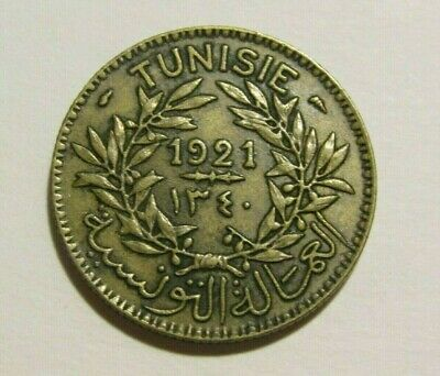 Tunisia 1921/1340 2 Francs Coin