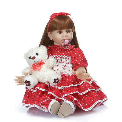 """Toddler Reborn Dolls Girl Long Hair Weighted Baby Dolls 24"""" Baby Dolls for Kids"""