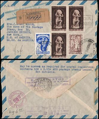 registered cover to NY, 1949