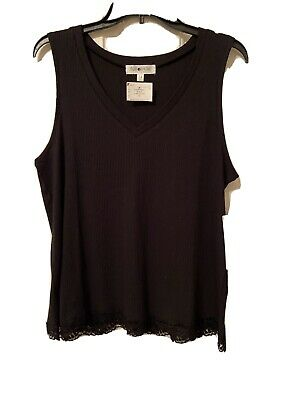 New Black Sleeveless Plus Size Top 1X By Full Circle Trends