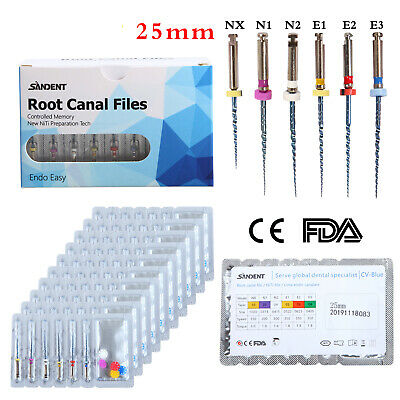 1/50*SANDENT Dental NiTi Rotary Endodontic Files for Endo Motor Treatment 25mm