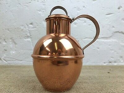 Vintage Guernsey Copper Craft Lidded Milk Can Creamer Jug
