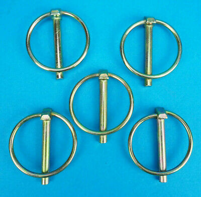 5 x 6mm pins Lynch Pins Trailer Horse Box Door Tail Gate Side for Ifor Williams